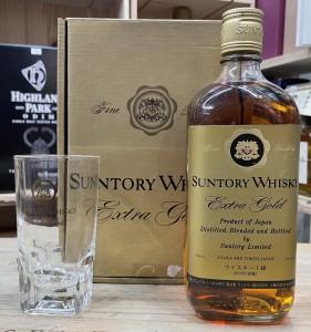 Suntory Whisky Extra Gold Glass Set
