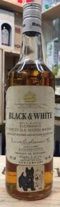 Black & White Whisky 70's